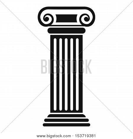 Roman column icon. Simple illustration of roman column vector icon for web