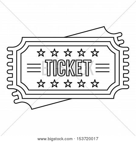 Ticket icon. Outline illustration of ticket vector icon for web