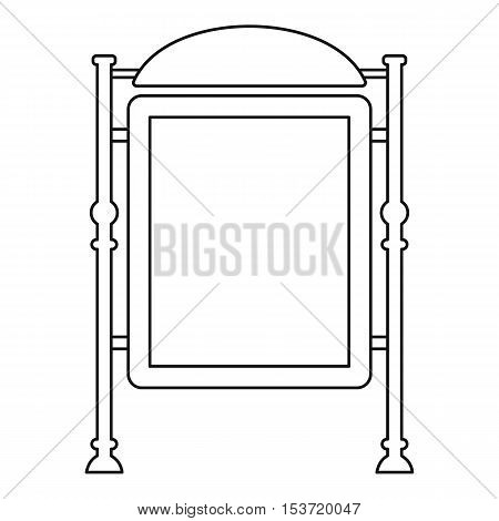 Advertising sign icon. Outline illustration of advertising sign vector icon for web