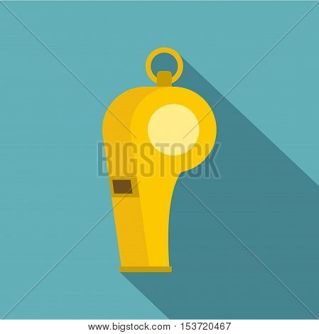 Whistle of refere icon. Flat illustration of whistle of refere vector icon for web