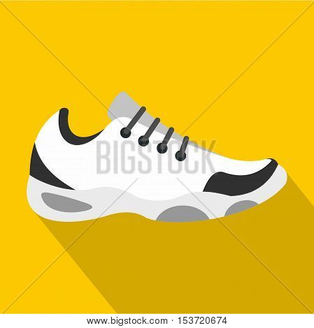 Sneakers for tennis icon. Flat illustration of sneakers for tennis vector icon for web
