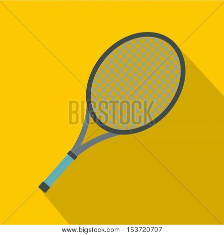 Tennis racket icon. Flat illustration of tennis racket vector icon for web