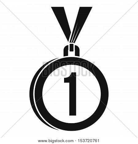 Medal for first place icon. Simple illustration of medal for first place vector icon for web