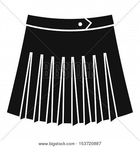 Tennis female skirt icon. Simple illustration of tennis female skirt vector icon for web