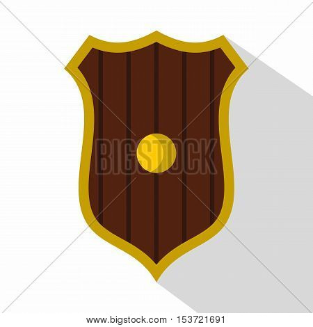 Protective shield icon. Flat illustration of protective shield vector icon for web