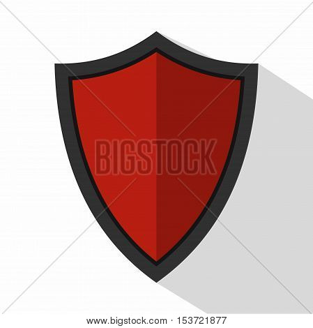 Shield for war icon. Flat illustration of shield for war vector icon for web