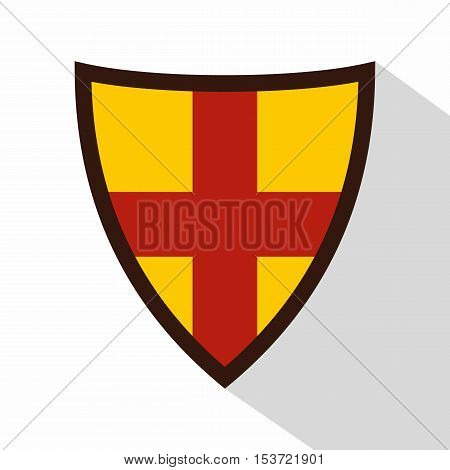 Shield for protection icon. Flat illustration of shield for protection vector icon for web