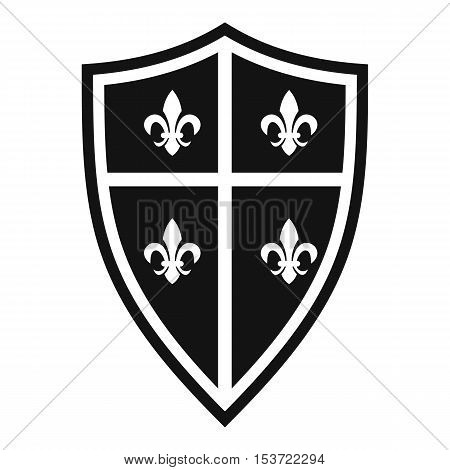 Royal shield icon. Simple illustration of royal shield vector icon for web