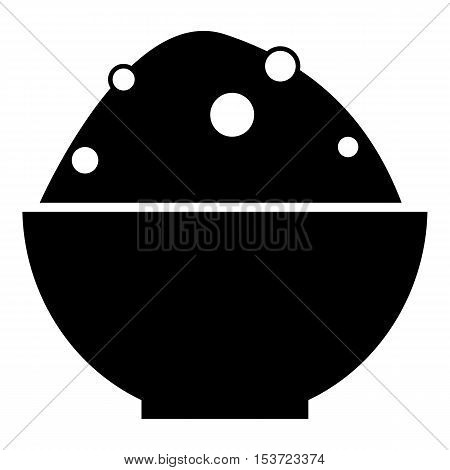 Bowl of food icon. Simple illustration of bowl of food vector icon for web
