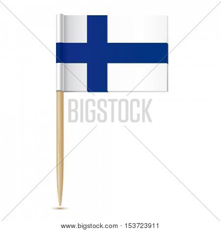 Finnish flag. Flag toothpick Finland 10eps