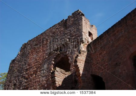 Nanstein Castle Wall Ruins