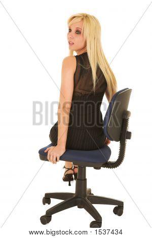 Young Blonde Businesswoman Isolated On White