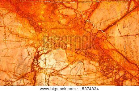 Orange Numidian Sanguine Marble, Cracks Full Frame
