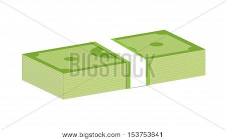 Money bundle of dollars bank notes. Pack of dollars.