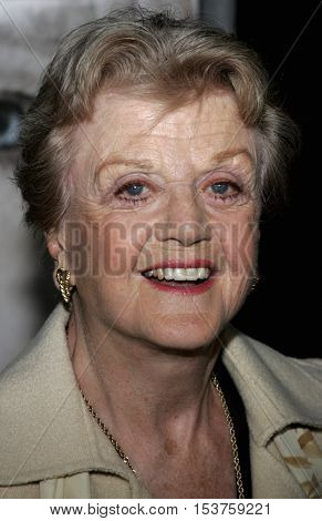 Angela Lansbury at the Los Angeles premiere of 'The Queen' held at the Academy of Motion Picture Arts and Sciences in Beverly Hills, USA on October 3, 2006.
