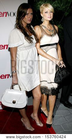 Paris Hilton and Nicky Hilton at the Teen Vogue Young Hollywood Issue Party held at the Sunset Tower in West Hollywood, USA on September 20, 2006.