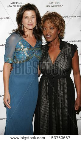 Daphne Zuniga and Alfre Woodard at the Archbishop Desmond Tutu's 75th Birthday Party held at the Regent Beverly Wilshire Hotel in Beverly Hills, USA on September 18, 2006.