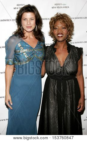 Alfre Woodard and Daphne Zuniga at the Archbishop Desmond Tutu's 75th Birthday Party held at the Regent Beverly Wilshire Hotel in Beverly Hills, USA on September 18, 2006.
