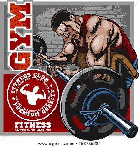Sport club. Bodybuilding logos emblems design element. Sports icons and elements. Bodybuilder, athlete emblem.
