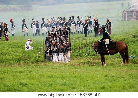 Borodino Battle Historical Reenactment In Russia
