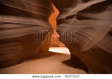 beautiful light effects inside the famous Antelope slot Canyon