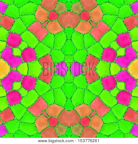Beautiful great bright neon green colorful mosaic geometry pattern
