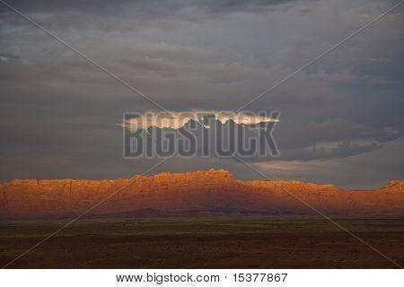 Range In Spectacular Sunset Light