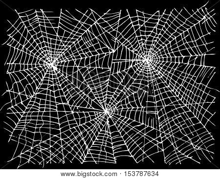 Halloween web background 308. Eau-forte black-and-white decorative texture vector illustration.