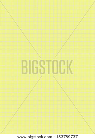 Seamless yellow grey checkered paper for notes