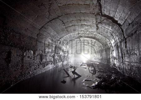 Flooded abandoned coal mine in Tkvarcheli, Abkhazia, Georgia