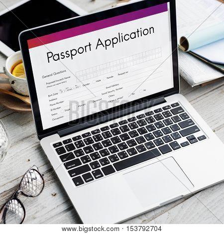 Passport Application Immigration National Border Concept