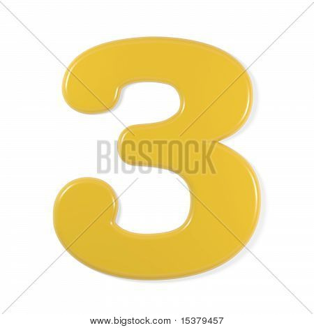 yellow font - number 3