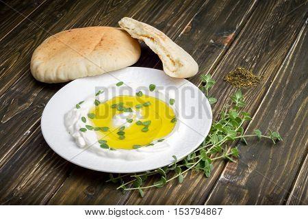 Labneh (strained Yogurt) With Za'atar