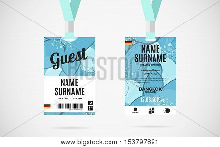 Event Guest Id Card Vector & Photo (Free Trial)   Bigstock