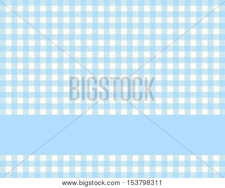 Traditional tablecloth background blue white with light blue stripe