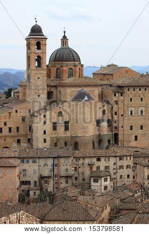 A nice urban scenic of Urbino, Italy