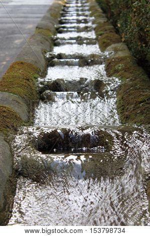 Fountains in Villa d'Este in Tivoli, Italy