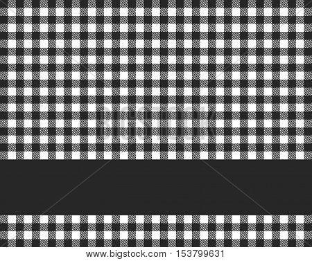 Traditional tablecloth background black white with black stripe