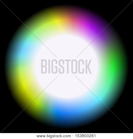 Lighting sphere colorful rainbow framed frame background picture