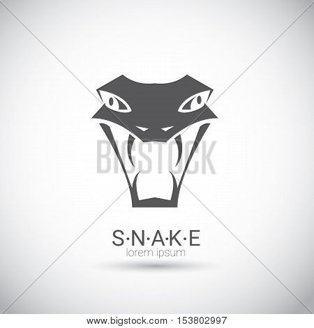 vector snake simple black logo design element. danger snake icon. viper symbol