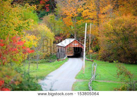 Cilley covered bridge in Tunbridge Vermont