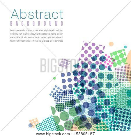 Colorful abstract dot background with space for your text