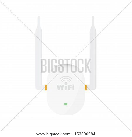 Wireless Access Point Concept By Have Two Antenna