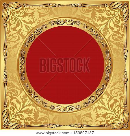 vintage background with golden ornaments - vector illustration