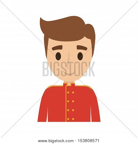 bellboys worker avatar isolated vector illustration design
