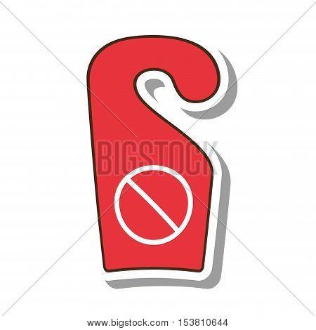 do not disturb notice icon vector illustration design