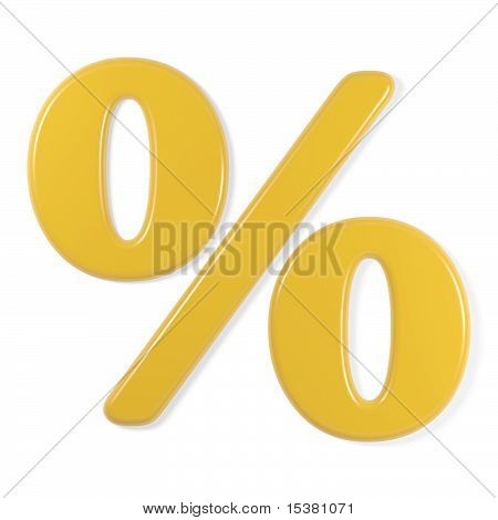 yellow font - percentage symbol