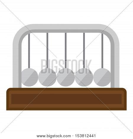 Newton pendulum image on a white background. flat design