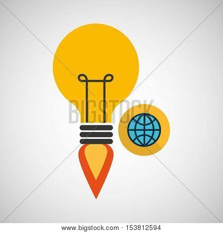 creativity idea business globe connection ector illustration eps 10