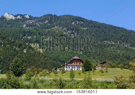 view of mountain in st. Wolfgang Austria